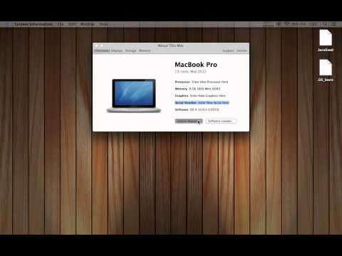 Change Serial Number and Specs on Mac - Part 6