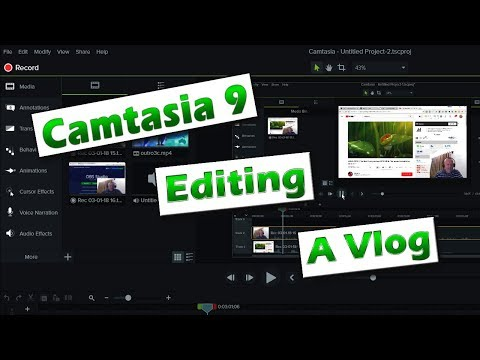 Camtasia 9 - Getting Started 03 - Vlog Editing