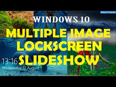 Windows 10- Multiple Image Lockscreen Slideshow