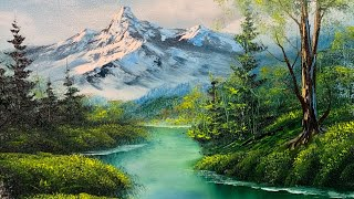 Landscape Painting Tutorial | Hidden Lakes | Paintings By Justin