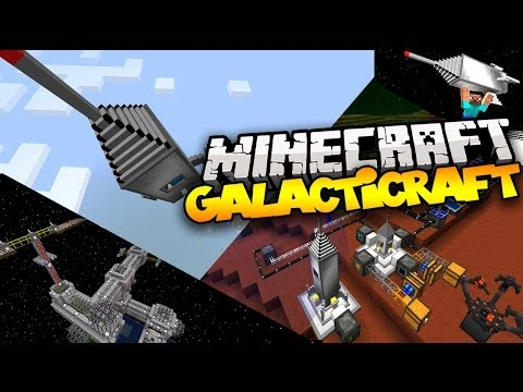 Minecraft GALACTICRAFT! (Build a Rocket & Travel to The Moon!) | Mod Showcase