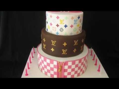 LV Louis Vuitton Custom Tiered Birthday Cakes | KiewTV