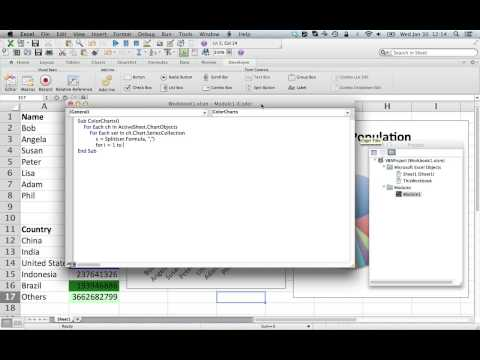 Excel tips and tricks: How to implement VBA macro to color charts according to source cells