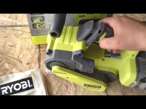 Ryobi P450 3x18 cordless belt sander