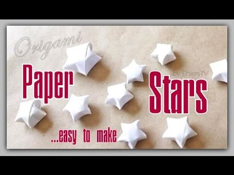 How to fold paper stars in seconds - Origami