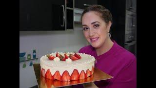 ماشي لخاطري بكيت😭 هادشي لي عطا الله 😃 Gâteau fraisier a la crème mousseline هدية لكل الأمهات❤️❤️