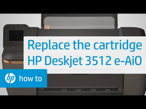 Replacing a Cartridge - HP Deskjet 3512 e-All-in-One Printer