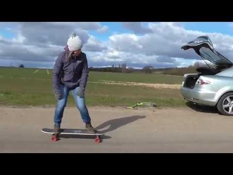 Grey dad skater progress 16 - Speed wobbles on the longboard