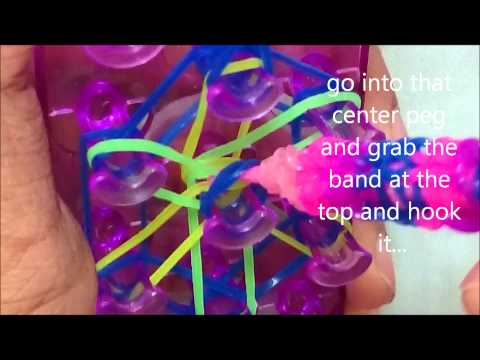 Tutorial: Loom bands Starburst Ring