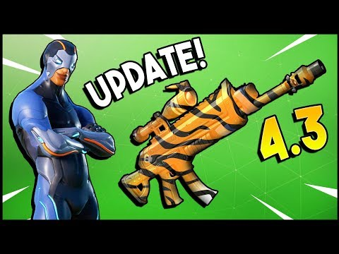 NEW TIGER AR, New MYTHIC Hero Soldier CARBIDE, Shopping Cart & More - Fortnite Update 4.3