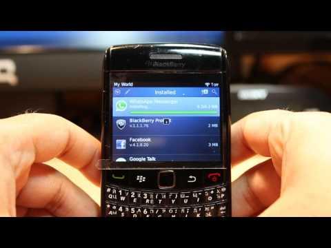 WhatsApp Messenger install to Blackberry Bold 9780