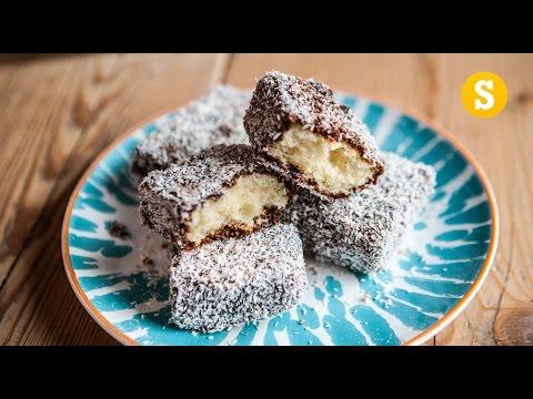 Chocolate Lamingtons Recipe... upside down