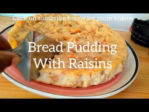 Bread Pudding With Raisins Recipe (Mauritian Poudine Du Pain)
