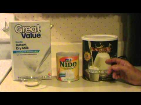 Differences in Powdered Milk
