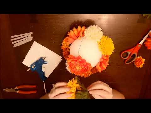 Easy DIY Home Decor Flower Balls or Wedding Decoration
