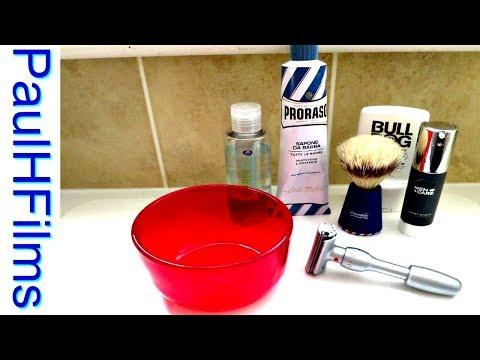 Merkur Vision 💈  Proraso Blue Shaving Cream