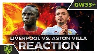 GW33+   Liverpool vs. Aston Villa FPL Watchalong   Fantasy Premier League   #fpl