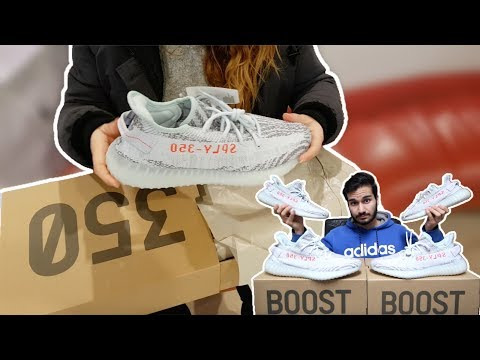 We Won 2 Pairs of Yeezy 350 V2 Blue Tints! | Giving a Random Stranger New Yeezys! | Yeezy Review