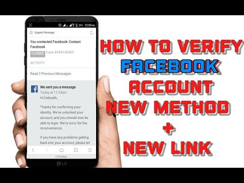 How to verify Facebook account ☑ 2018 ( New Contact Form Link )