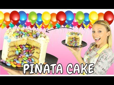♡• UN GÂTEAU SURPRISE   RECETTE  PINATA CAKE •♡