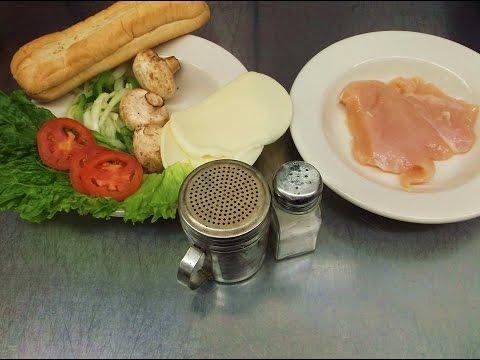 Chicken Sandwich Philly Cheese Style