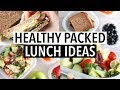 EASY HEALTHY LUNCH IDEAS - SCHOOL/ WORK PACKED LUNCHES!