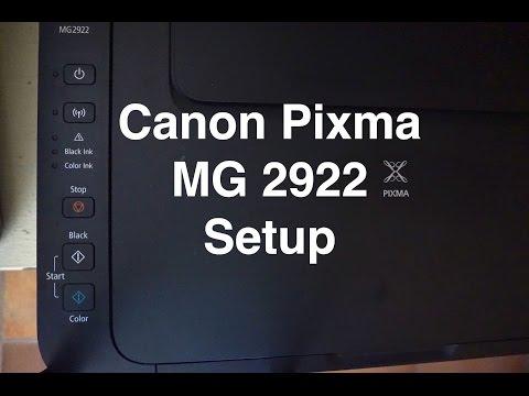 CANON MG 2922 setup