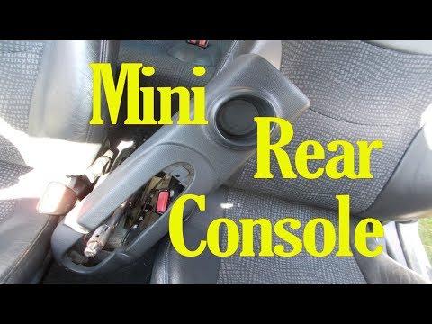Mini rear center console removal