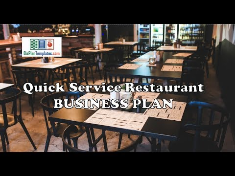 Quick Service Restaurant business plan - template with example sample