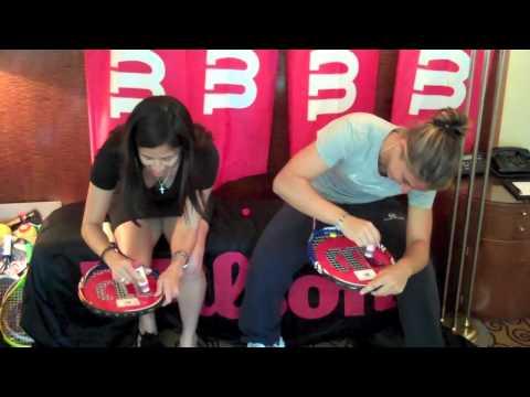 Wilson Tennis BLX Racquet Stencil Challenge with Sara Errani