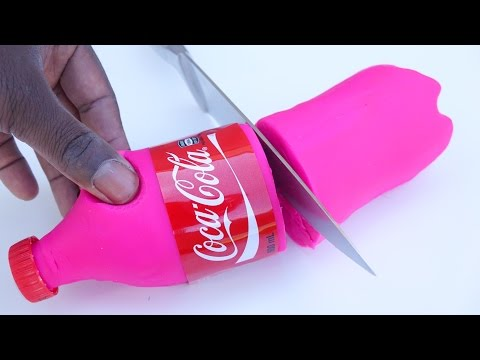 DIY How To Make Coca Cola Play Doh Modelling Clay And Learn Colors
