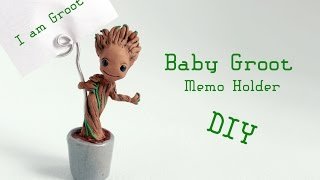 Baby Groot Memo Holder Polymer Clay Tutorial (Guardians of the Galaxy)