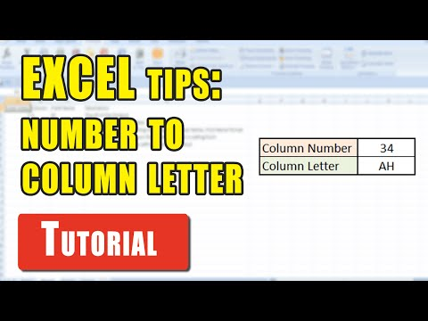 Excel Tips: How to convert a column number into an Excel column letter