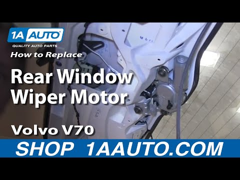How To Install Replace Rear Window Wiper Motor Volvo V70 Wagon