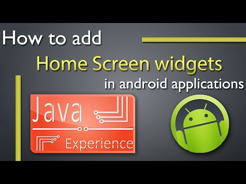 Home Screen Widgets in android tutorial with example