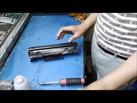 HOW TO REFILL HP CC388A 88A Toner Cartridge IN HINDI