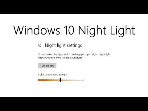 Windows 10 Night Light Mode