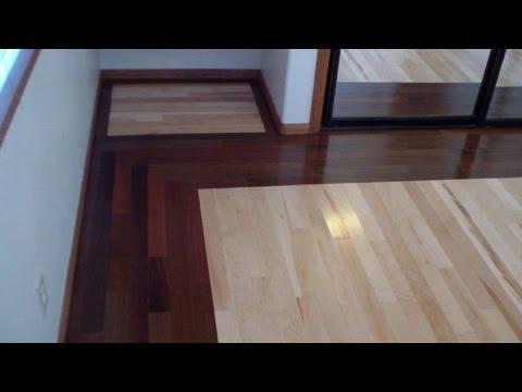Walnut and Maple Hardwood Floor Installation