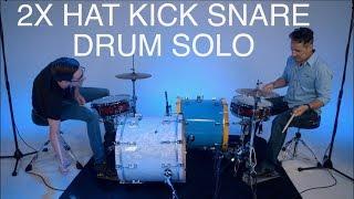 Double Drummer Hat Kick Snare Drum Solo