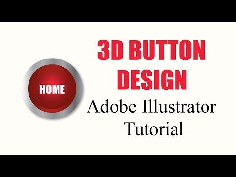 3D BUTTON DESIGN – Adobe Illustrator Tutorial