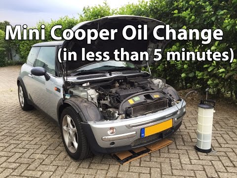 Mini Cooper Oil Change in less than 5 minutes!