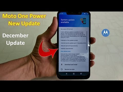 Moto One Power New Update | December Update | New System Update