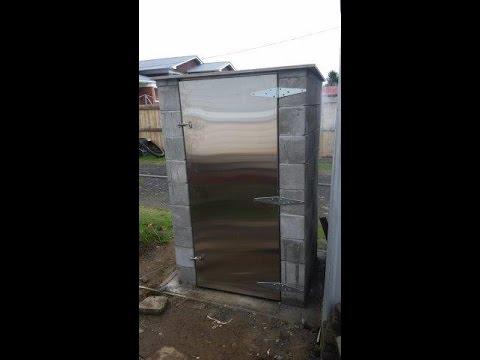 Build a concrete smoke house