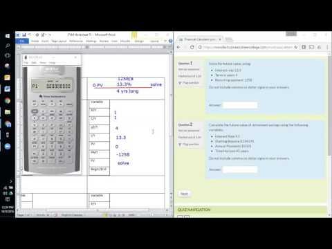 Financial Calculator - FV Calculations