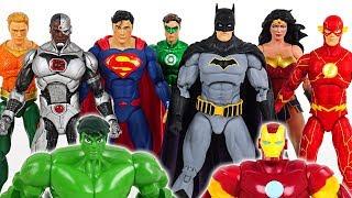 Hulk and Iron Man are hurt! Go! Justice League! Batman, Superman, Wonder Woman! - DuDuPopTOY