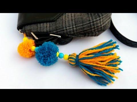 Pom-Pom Keychain || DIY Charm || Wool Crafts || The Blue Sea Art
