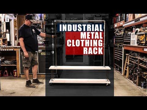 Industrial Metal Clothing Rack | JIMBO'S GARAGE