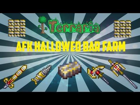 Terraria ios 1.2.4 | AFK Hallowed Bar Farm! | 250 Hallowed Bars a night (Working 2017)