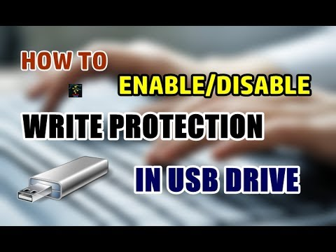 How To Enable Write Protection In A USB drive