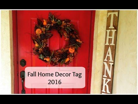 Fall Home Decor tag 2016